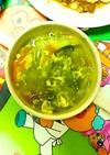 野菜たっぷり簡単たまごスープ