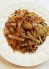 玉葱と豚肉の味噌炒め