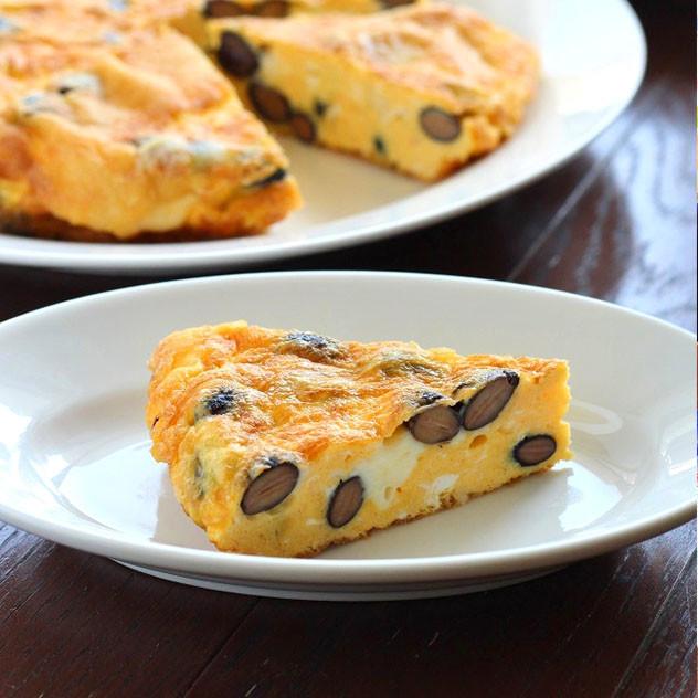 糖質制限★黒豆とチーズのトルティージャ