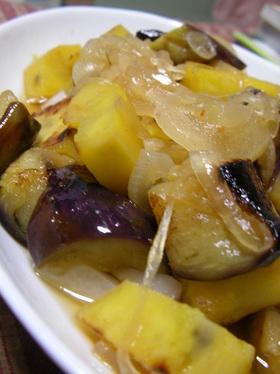 【男の料理】茄子とサツマイモの南蛮サラダ