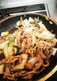 鍋の残り物で甘辛炒め