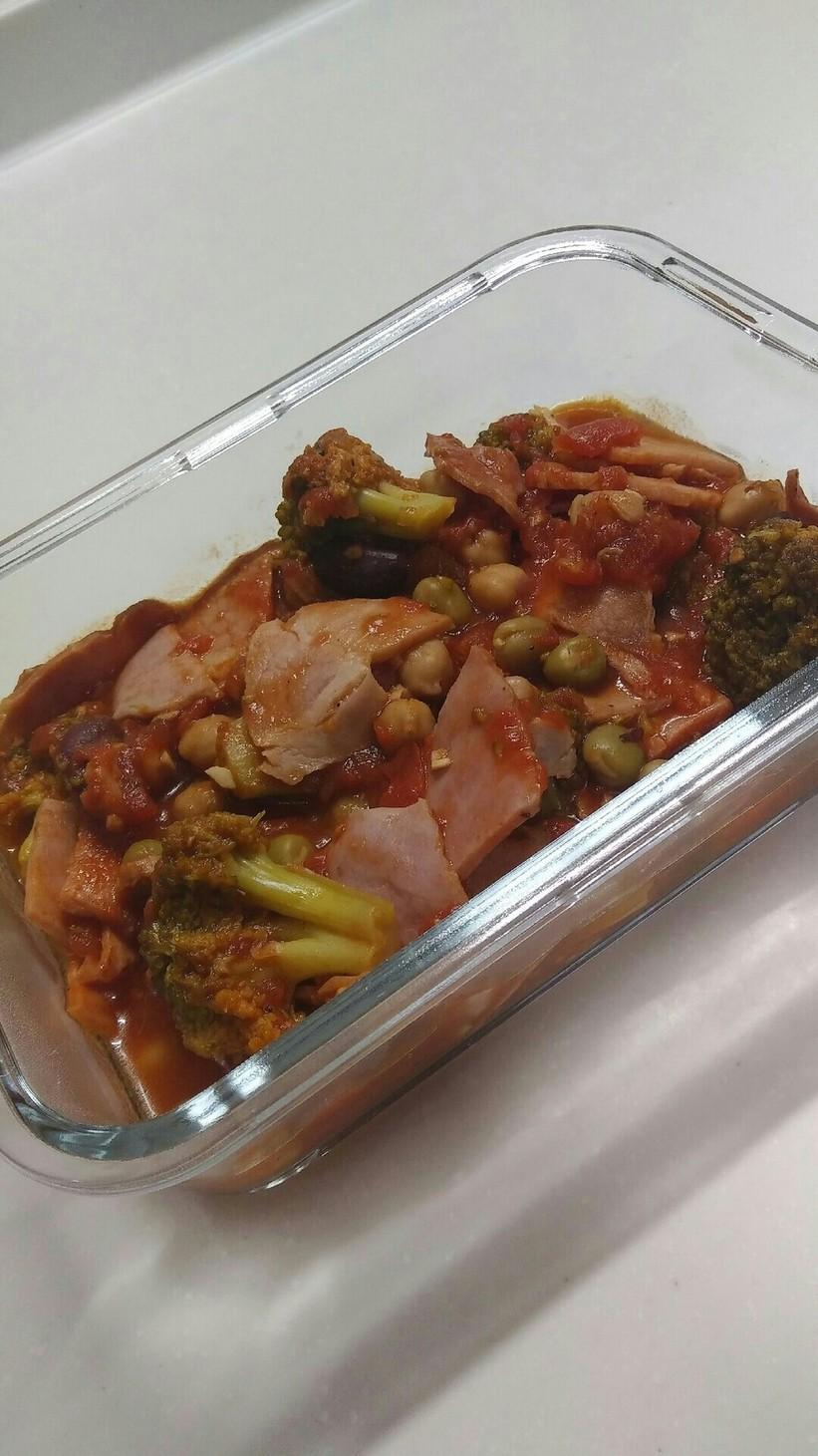 お豆を入れたら栄養アップ!トマト煮
