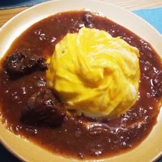 ドレスドオムライス☆牛肉の赤ワイン煮