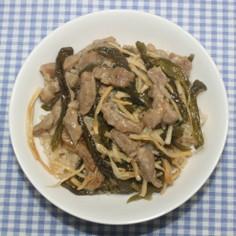 乾燥ピーマンと筍でチンジャオロースー釜飯
