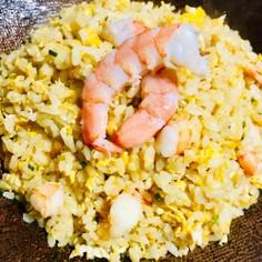 プリプリ海老のピリ辛炒飯