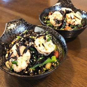 栄養満点☆海老とひじきとお豆のサラダ