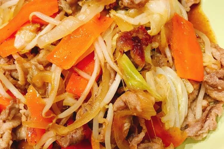 肉 野菜 炒め レシピ 人気