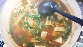 麻婆豆腐(キムチ鍋リメイク)