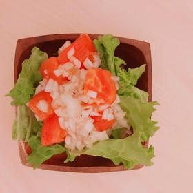 新たまドレと冷しトマトのサラダ