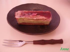 桜と抹茶 2層のベークドチーズケーキ