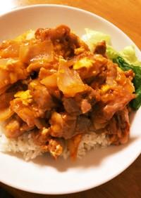 鶏たまチリソース煮