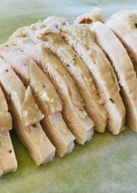 レンジでしっとり☆鶏むね肉のサラダチキン