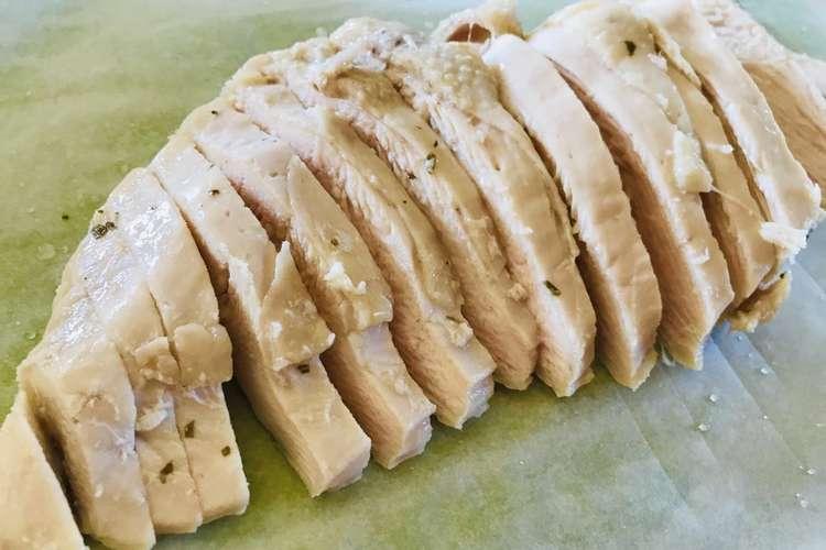 サラダ 肉 チキン 胸 鶏