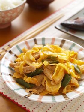 豚とキャベツのケチャップ味噌炒め