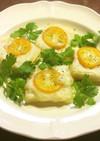 酒粕とチーズと金柑のカナッペ