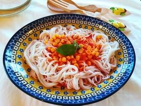 2分でソース完成!野菜の健康パスタ♪