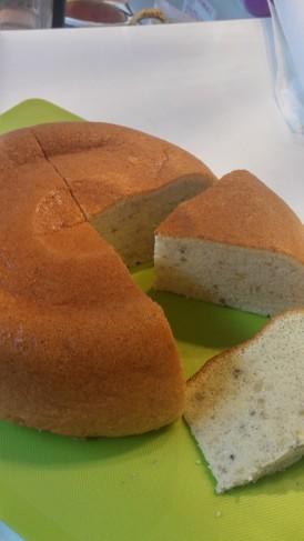 炊飯器でバナナシフォンケーキ