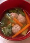 チンゲン菜と肉団子のスープ♡