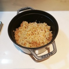 玄米の炊き方(STAUB)