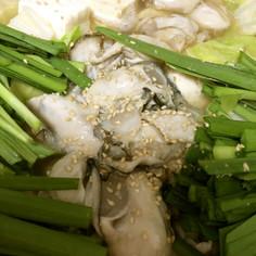 牡蠣のもつ鍋風!スタミナにんにく鍋!