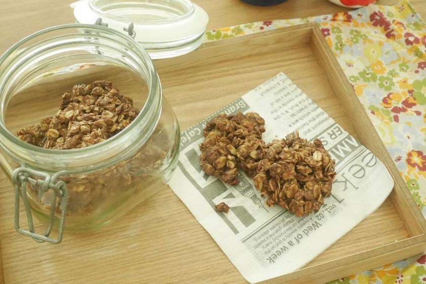 ココアのザクホロオートミールクッキー