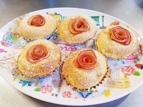 薔薇のりんごケーキ