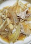 ヘルシー鍋の残り野菜中華丼風。