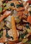 イロガワリ等・天然キノコ4種の野菜炒め
