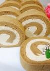 米粉のコーヒーロールケーキ。:+*.゜