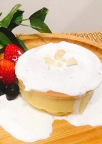 糖質5gのプロテインスフレパンケーキ♡