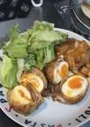 半熟卵の肉巻きから揚げ
