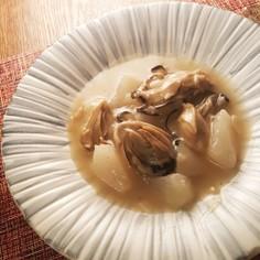 かぶと牡蠣の中華煮込み