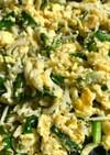 シラスとニラ入り炒り卵