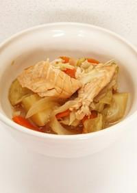 炊飯器レシピ【石狩鍋】離乳食後期も☆