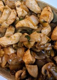 鶏ムネ肉のブラックペッパー中華炒め