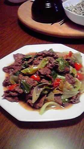 簡単スピード☆牛肉とレタスのマヨ炒め