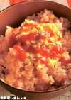 電子レンジで簡単★そぼろ卵のオムライス丼