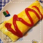 冷凍食品で簡単!チキンチーズオムライスの写真