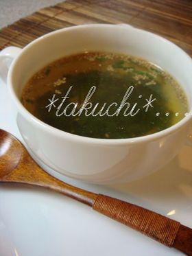 ネギまみれのスープ