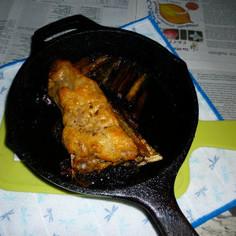 本まぐろのアラの塩+白味噌焼き