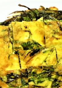 【小麦粉不使用】水菜の玉子チジミ