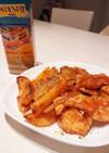 鶏とジャガイモのケチャップガーリック炒め