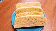 タッパでレンチン、おからパウダー蒸しパンの写真