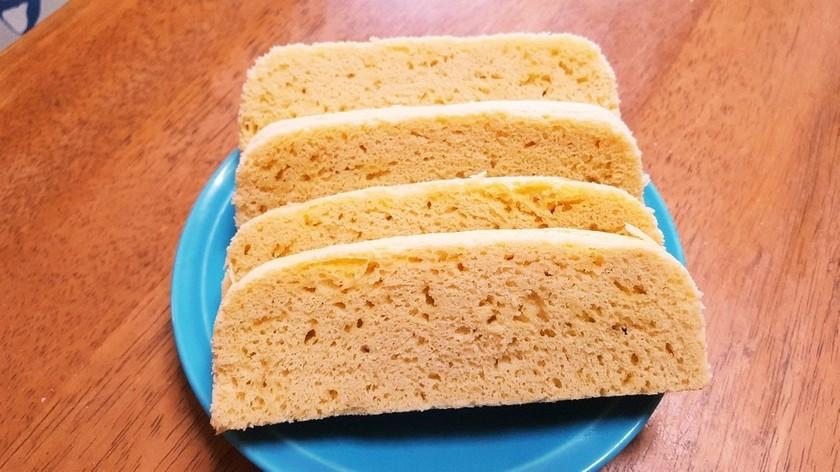 タッパでレンチン、おからパウダー蒸しパン