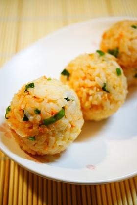 ✿ねぎ味噌鮭おにぎり✿