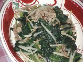簡単!ほうれん草と豚肉の炒め物☆