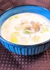 クラムチャウダー風!魚介と白菜のスープ