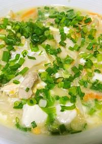 【ダイエット】卵と豆腐の、トロトロスープ