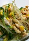 餃子のタレでささみときゅうりの中華サラダ