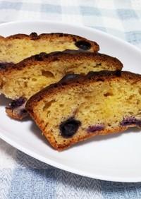 HMで簡単 ブルーベリーのパウンドケーキ